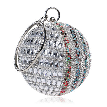 Round purse With Handle Chain