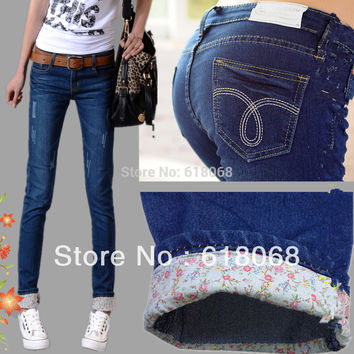 New Arrival Fashion Korean Women Jeans Slim Hip Elastic Jeans Trousers Pencil Jeans Casual Skinny Jeans Size:26~31