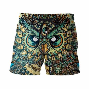 PSYCHEDELIC OWL SHORTS