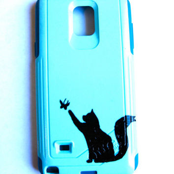 Galaxy S4 Otterbox Case, Otterbox Samsung Galaxy S4 Case Custom,cat Glitter S4 Case