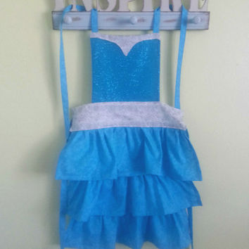 Frozen Elsa Apron or Anna Apron Disney Princess Dress Up For Toddler, Girl and Child