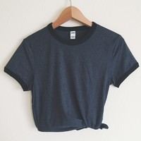 Caitlin Charcoal Ringer Tee