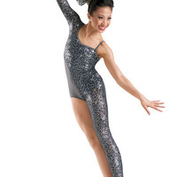 Sequin Lace Brief-Cut Biketard; Weissman Costumes