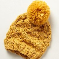 Steppe Knit Hat by Anthropologie Mustard One Size Jewelry