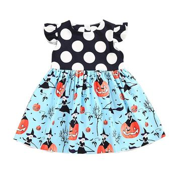 Dress for girl baby clothes children's dress Kids Halloween Pumpkin Cartoon Princess Dress clothes for school Christmas costumes