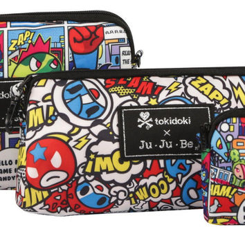 Ju Ju Be Tokidoki X Be Set Super Toki 3 Bags Pouch Set Baglet NEW
