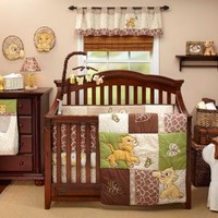 Lion King Go Wild Baby Crib Bedding by Disney Baby