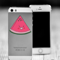 "Watermelon Kawaii Die Cut Sticker // Cute Japanese Decal // Cell Phone & Tablet Small Size // 2"" // Perfect For Indoor, Outdoor, Laptop, Car"