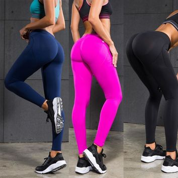 Women Compression Leggings Push Up Sexy Hips Fitness Tights Yoga Pants