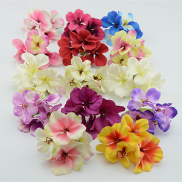 diy material simulation hydrangea wreath lovely cherry bouquet bride headdress flower artificial flowers wedding decoration
