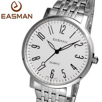 Fashion Casual Steel Band Silver Black Wrist Watch Men Brands Quartz