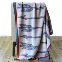 Arrows Knit Throw