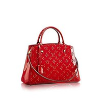 Louis Vuitton Montaigne MM Monogram Vernis Leather Handbag Article: M50167 Cherry Made in France