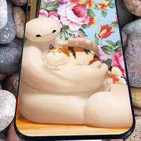 Baymax And cat flower for iPhone 4/4s/5/5S/5C/6, Samsung S3/S4/S5 Unique Case *95*