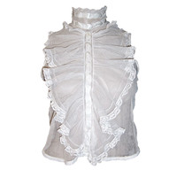 Gorgeous Victorian Sleeveless Jabot Made of English Netting/Lace