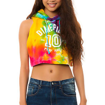 The Play Hard Tie Dye Cropped Pullover