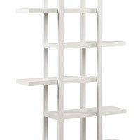 "White 71""H Open Concept Display Etagere"
