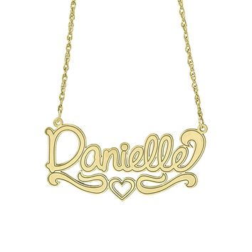 Design Script Name Necklace