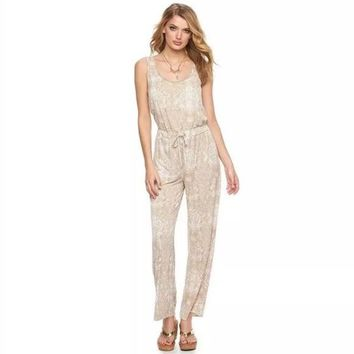Juicy Couture Elegant Snake Print Romper Jumpsuit Large New $49 Free Shipping!