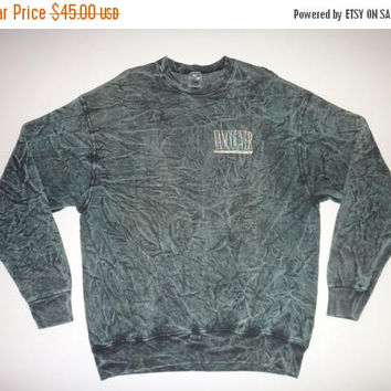On Sale 25% Off Rare Vintage Vancouver CANADA Sweatshirt Acid Wash Shirt Tie dye 1980s  Rare Nice Design