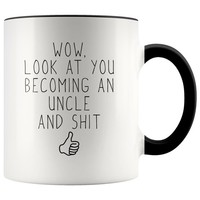 Personalized New Uncle Gift, Uncle To Be, Funny Uncle, Pregnancy Announcement, Uncle Mug, New Uncle Mug, Uncle Announcement, Reveal to Uncle