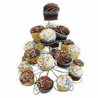 Evelots 4 Tier Wire Cupcake Stand Holds 23 Desserts Weddings, Parties, Holidays