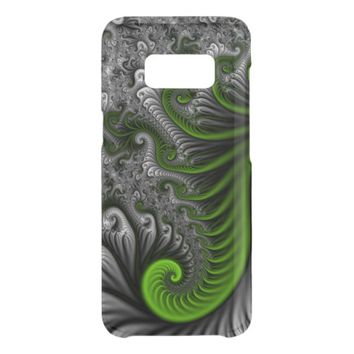Fantasy World Green And Gray Abstract Fractal Art Get Uncommon Samsung Galaxy S8 Case