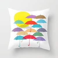 Sunny Day Throw Pillow by JuniqueStudio