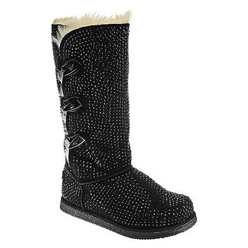 Shiekh Urban Glitter High Womens Black Boot | Shiekh Shoes
