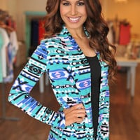 TRIBAL OPEN CARDIGAN