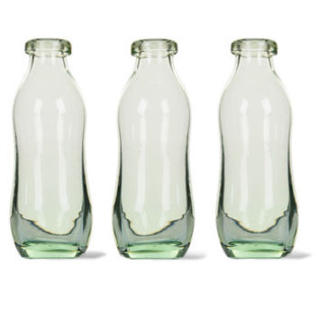 Set Of Three Recycled Glass Bottle Vases