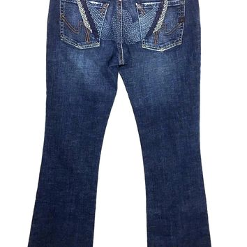 Citizens of Humanity Big Sur Stretch Flair Embroidered Wings Jeans Womens 29 / 8 - Preowned