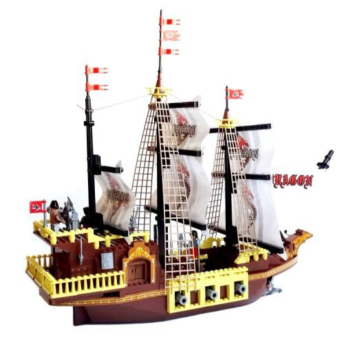 Toy Pirate Lego : Dragon pirate ship lego compatible toy from slick bricks