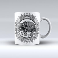 The Indian Mandala Elephant ink-Fuzed Ceramic Coffee Mug