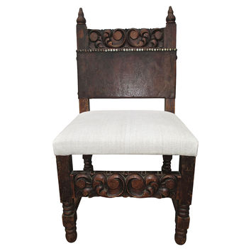 Spanish Revival Carved Chair