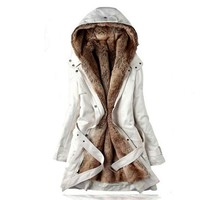 2017 autumn winters fashionable plus-size women's hooded coat/Thickening of the warm long cotton-padded clothes