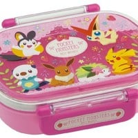 Japanese Licensed Pokemon Microwavable Bento Lunch Box Pink (With License, Divider Inside)