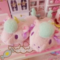 Little twin stars pastel kawaii fairy kei slippers • Shy Lolita • Tictail