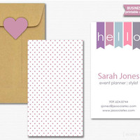 Double-sided Printable DIY Business Card Hello Bunting Calling Cards Pennant Mommy Cards Digital PDF Customized