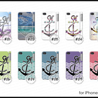 iPhone 4 4S - ANCHOR Refuse To Sink nautical galaxy tribal quote case cover