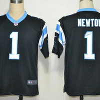 Cam Newton #1 Carolina Panthers Nike Game Black Jersey