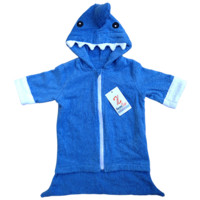 0-3 Month Baby Boy Shark Attack Towel Robe