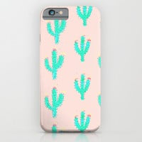 Cactus Print iPhone & iPod Case by Bouffants And Broken Hearts