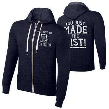 "Chris Jericho ""You Just Made the List"" Lightweight Sweatshirt Hoodie"