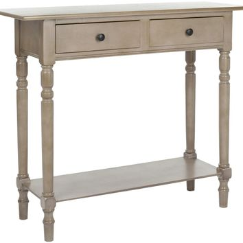 Rosemary 2 Drawer Console Vintage Grey