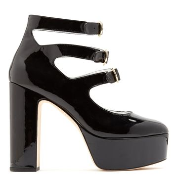 Mary-Jane patent-leather platform pumps | Alexachung | MATCHESFASHION.COM US