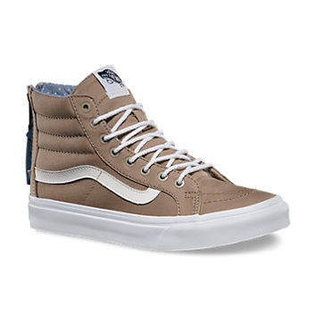 Chambray Dots SK8-Hi Slim Zip | Shop Classic Shoes at Vans