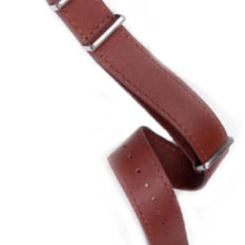 Leather NATO Strap - Dark Tan 22mm
