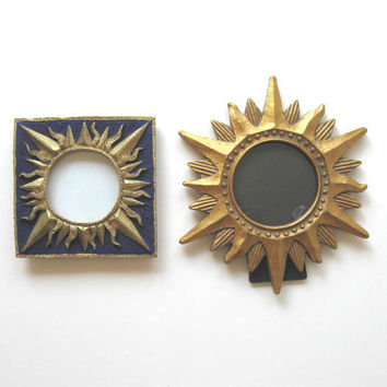 Vintage, Pair of Celestial Photo Frames