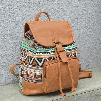 National Style Tribal Style Creative Backpack